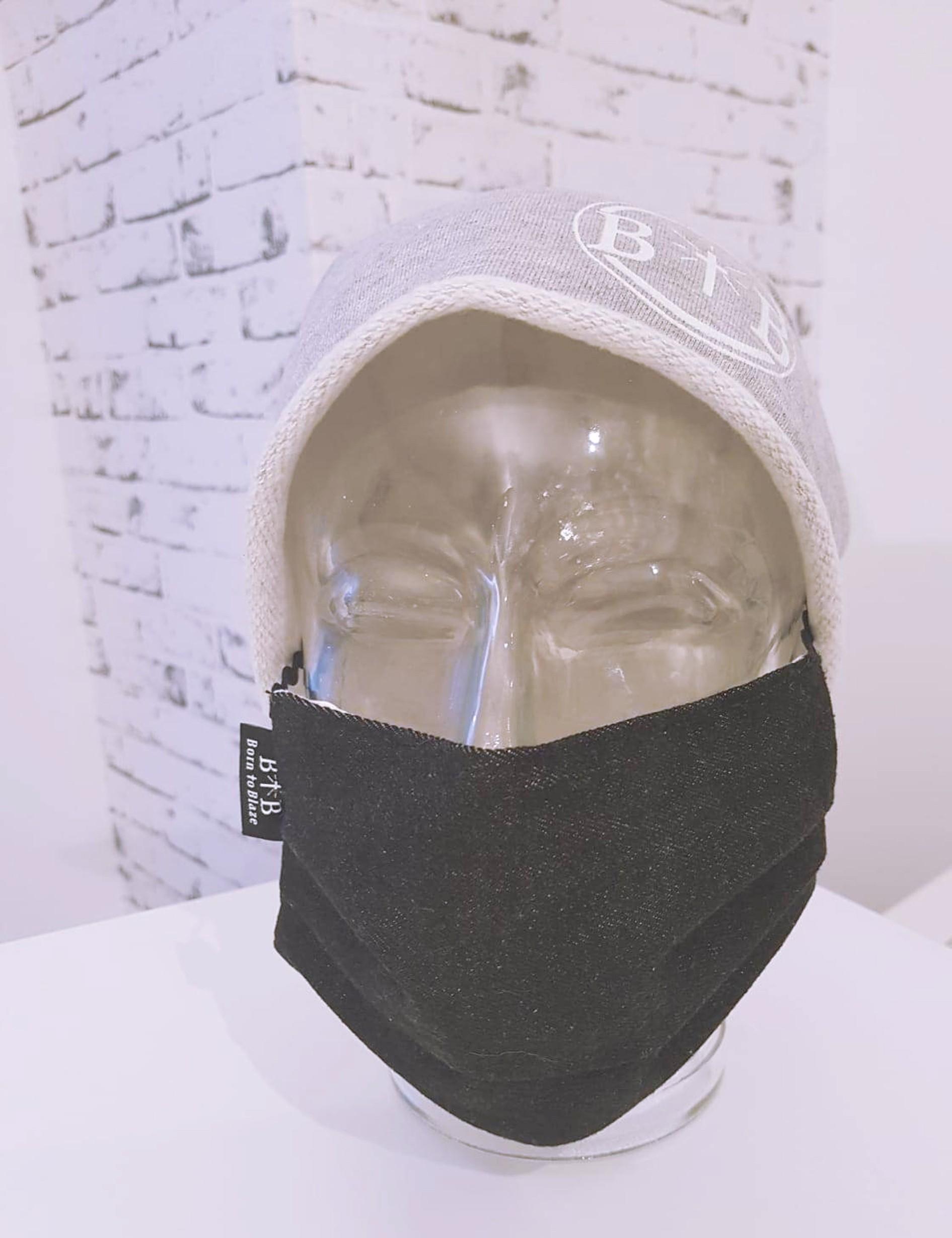 Schwarze Jeans Mehrweg Mund- und Nasenschutz Maske