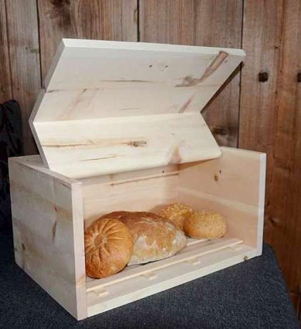 Zirben Brotbox mit Frontklappe