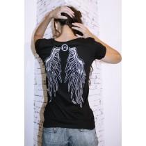 Damen T-Shirt Adlerflügel nachleuchtend