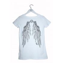 Damen T-Shirt Adlerflügel schwarzer Print