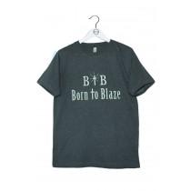 Herren T-Shirt BORN TO BLAZE nachleuchtend