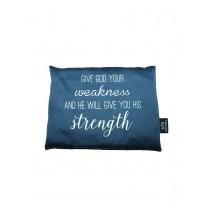 Kirschkernkissen Give God Your Weakness