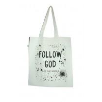 Stofftasch Follow God / Love Each Other Nachleuchtend